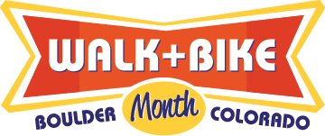 Walk and Bike Month – Boulder, CO Logo
